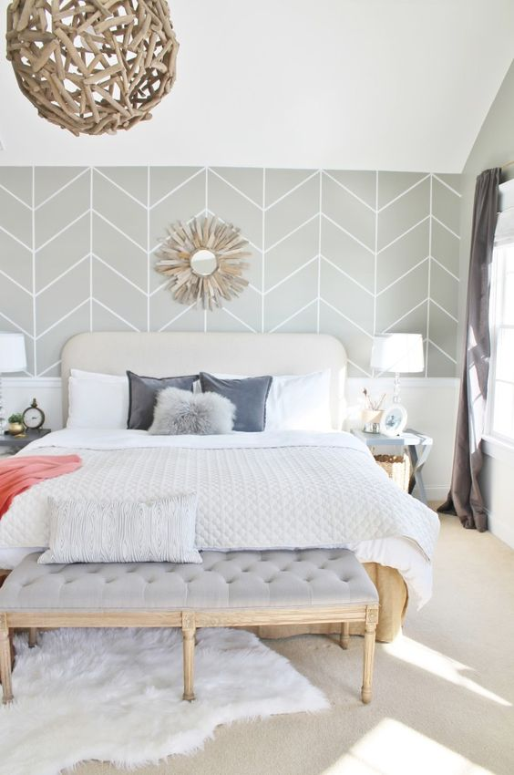 Master bedroom design accent wall