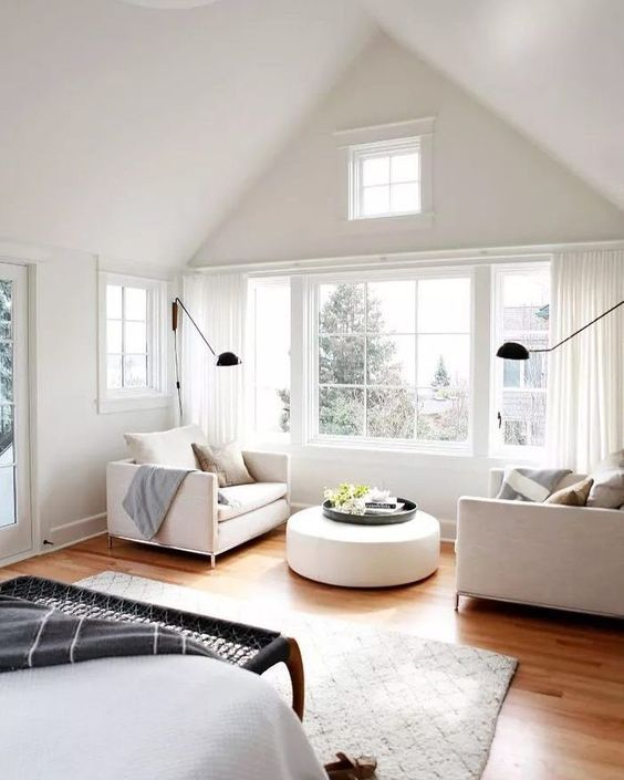 Master bedroom design sitting area